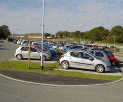 Busy 1,800 capacity park and ride facility