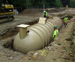 Reedbed wastewater treatment system construction