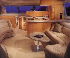 Axiom faux leather used a luxury yacht