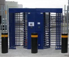 Full height galvanised turnstiles