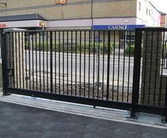 Groundtrack sliding security gates