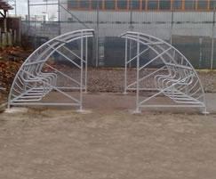 Bromley cycle shelter facing
