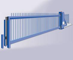 Cantilever security gates, rail infill