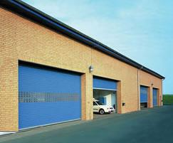 Electrically operated insulated roller shutters