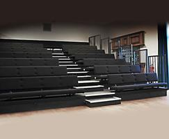 Retractable bench seating