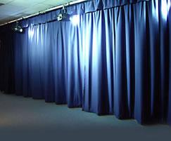Studio stage and curtain systems