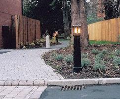 Vanguard illuminated cast iron bollard