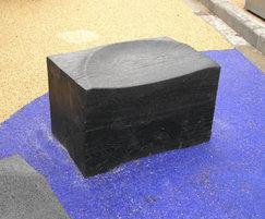 Charred FSC green oak seating block