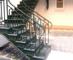 Cast iron balustrades and staircase, New York