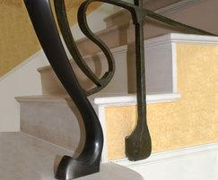 Contemporary steel balustrade detail
