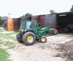Groundsman's timber clad store - highly secure