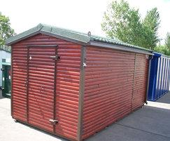 Vandal Resistant  playground store, timber cladding