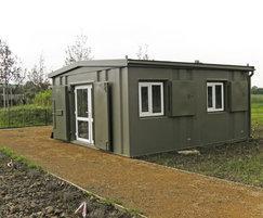 Vandal resistant modular visitor centre