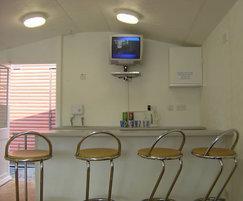 Apex modular visitor centre interior