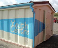 Apex modular youth centre with logo - vandal resistant