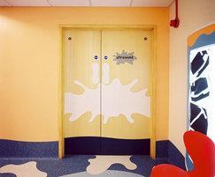 Acrovyn® custom-shaped door protection