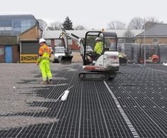 Gridforce reinforcement tiles, Churchill Hospital
