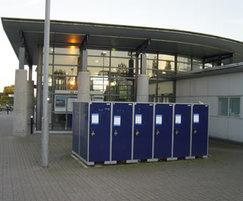 BikeAway lockers at a railway station