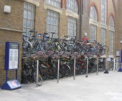 Josta 2-tier cycle rack, Liverpool Street Station
