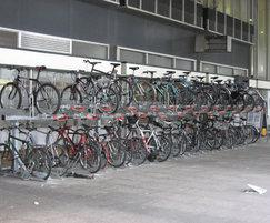 Josta 2-tier cycle rack, Euston Station