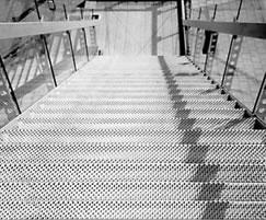 Type O2 Achil® perforated stair treads