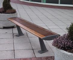 FOIL contemporary bench