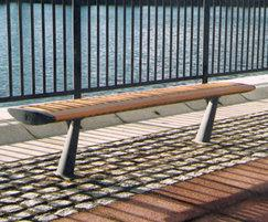 FOIL contemporary bench, ExCeL