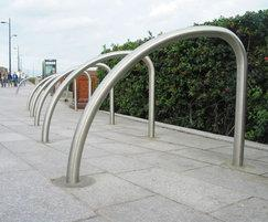 Fin stainless steel cycle stands