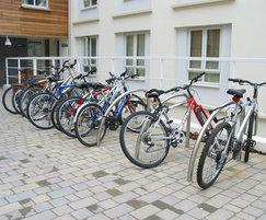 Fin cycle stands at University Halls