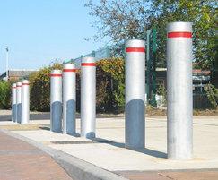 Kenton Single Neck galvanised steel bollards