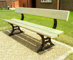 PA7 Palace cast iron and timber seat