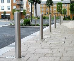 Zenith® satin stainless steel removable bollards