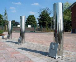 Zenith® bright stainless steel bollards