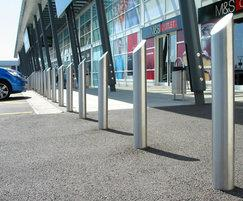 Zenith sloped stainless steel bollards