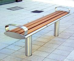 Zenith stainless steel and timber bench