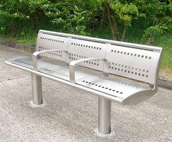 Zenith® seat with stainless steel perforated panels