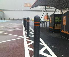 Dome-top bollard, B&Q, Halifax