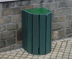 Mercury half round recycled plastic litter bin