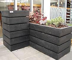 Agora recycled plastic planter