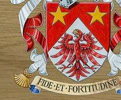 Honour boards are available with coats of arms