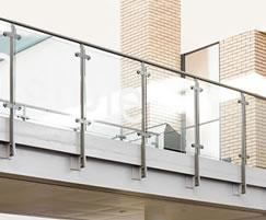 Steel balustrading with glass infill