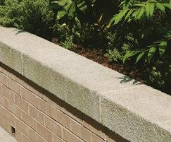 Conservation concrete kerb - used as a coping