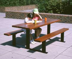 Beaufort hardwood and galvanized steel picnic table