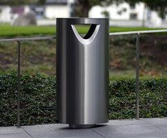 Omos s11.3 stainless steel litter bin