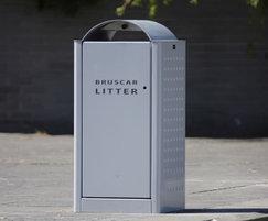 s41 steel/aluminium litter bin with ashtray
