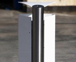 t1 aluminium litter bin