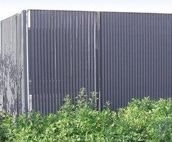 Italia-80V (vertical)louvred steel architectural screen