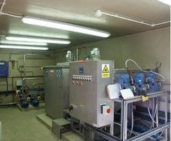 Sequential batch reactor plant room