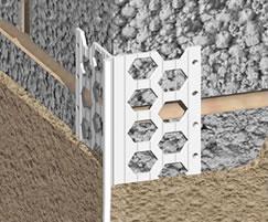 Corner beads for standard render