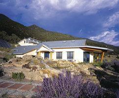 Double standing seam zinc roofing